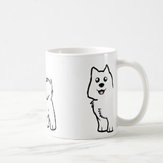 american eskimo dog cartoon coffee mug