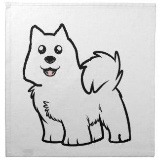 american eskimo dog cartoon napkin