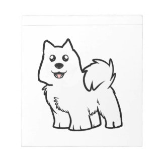 american eskimo dog cartoon notepad