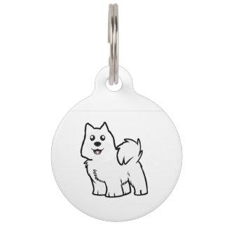 american eskimo dog cartoon pet tag