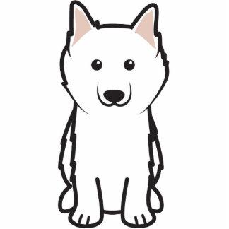 American Eskimo Dog Cartoon Acrylic Cut Outs