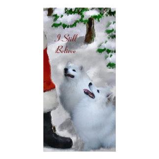 American Eskimo Dog Christmas Gifts Photo Cards