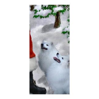 American Eskimo Dog Christmas Rack Card