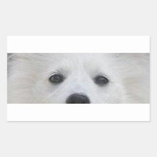 American_Eskimo_Dog eyes Rectangular Sticker
