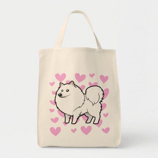 American Eskimo Dog / German Spitz Love Canvas Bag