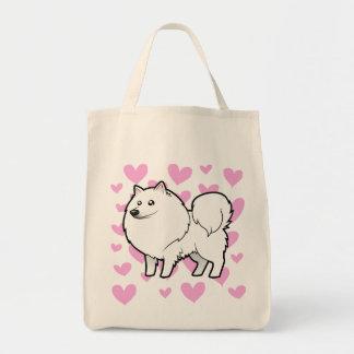 American Eskimo Dog German Spitz Love Canvas Bag