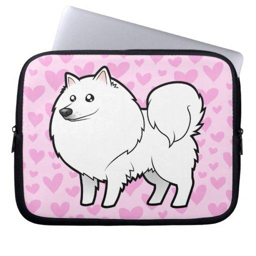 American Eskimo Dog / German Spitz Love Laptop Sleeves