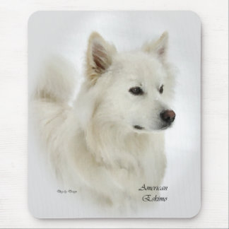 American Eskimo Dog Gifts Mouse Pad