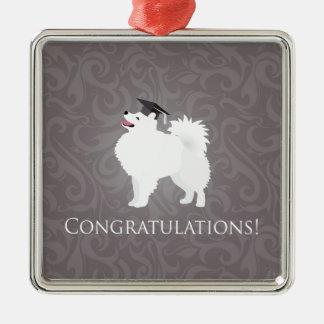 American Eskimo Dog Graduation Design Christmas Tree Ornament