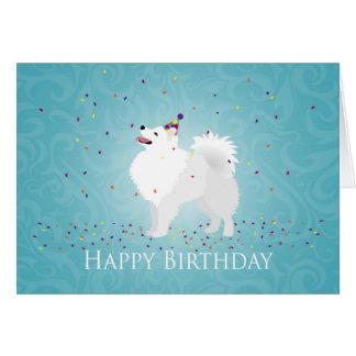 American Eskimo Dog Happy Birthday Design Greeting Card