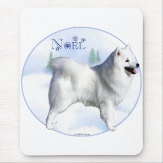 American Eskimo Dog Noel Mouse Pad