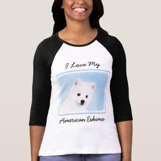 American Eskimo Dog Painting - Original Dog Art T-Shirt