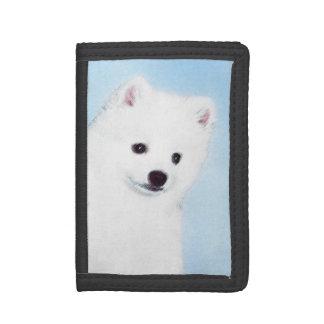 American Eskimo Dog Painting - Original Dog Art Trifold Wallets