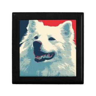American Eskimo Dog Political Hope Parody Jewelry Box