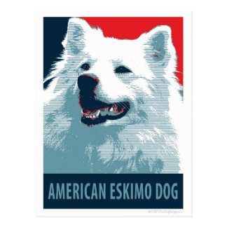 American Eskimo Dog Political Hope Parody Postcards
