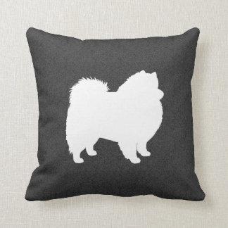 American Eskimo Dog Silhouette Cushions