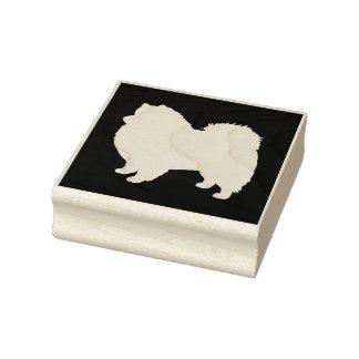 American Eskimo Dog Silhouette Rubber Stamp
