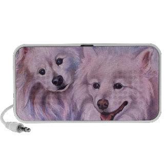 American Eskimo Dogs Portable Speakers