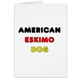 american eskimo flag in name card