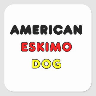 american eskimo flag in name square sticker