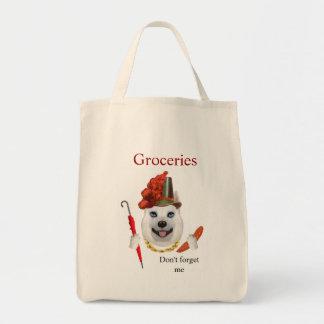 American-Eskimo Grocery Tote