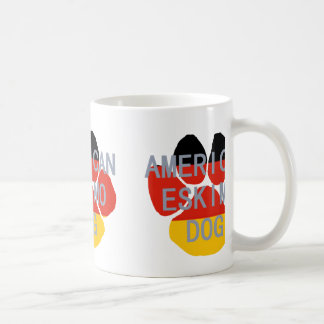 american eskimo name flag paw coffee mug