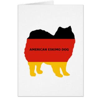american eskimo name flag silo card
