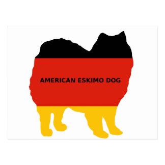 american eskimo name flag silo postcard
