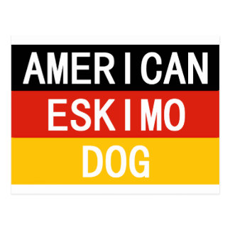 american eskimo name on flag postcard