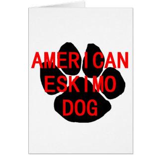 american eskimo name paw card