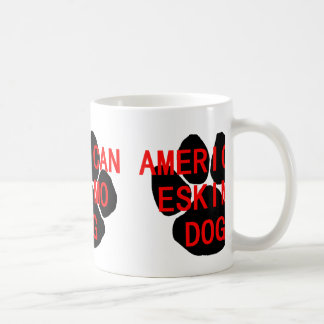 american eskimo name paw coffee mug