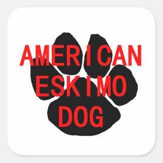american eskimo name paw square sticker