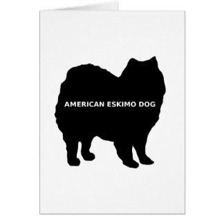 American Eskimo name silo Card