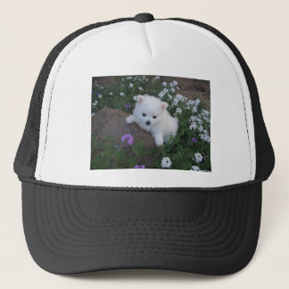 American Eskimo Puppy Dog Trucker Hat
