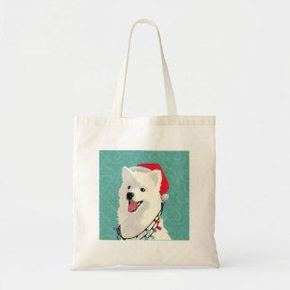 American Eskimo Samoyed Cute Puppy Dog Christmas Tote Bag