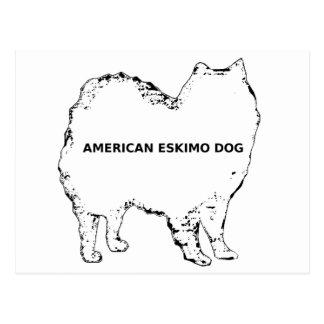 American Eskimo white name silo Postcard