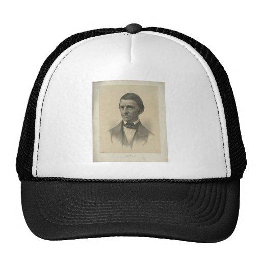 American Essayist Ralph Waldo Emerson Portrait Hat