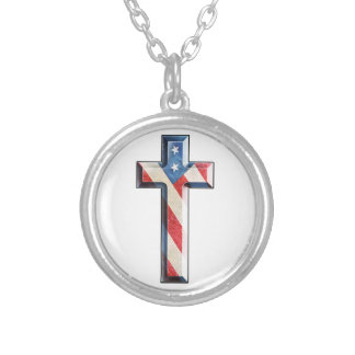 American Faith Cross Personalized Necklace