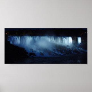 American Falls Night Panoramic 6x14 Poster