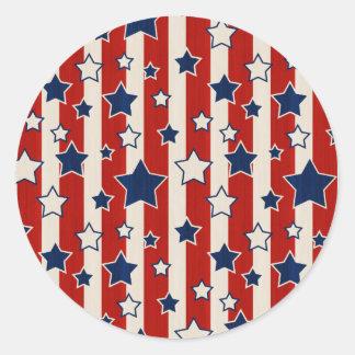 American Fame Round Sticker