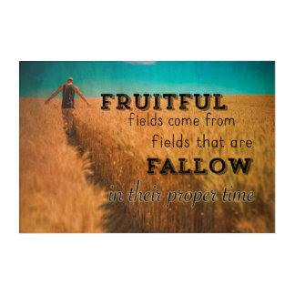 American Farmer Fruitful Field Wisdom Acrylic Wall Art