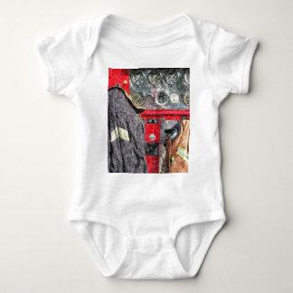 American Fire Truck Baby Bodysuit
