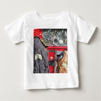 American Fire Truck Baby T-Shirt