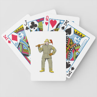 American Firefighter Fire Axe Drawing Bicycle Playing Cards