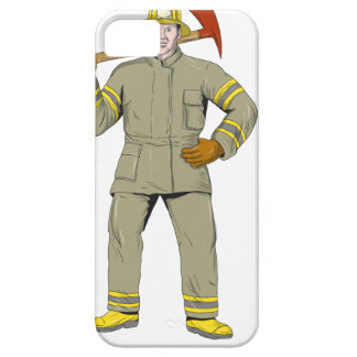 American Firefighter Fire Axe Drawing iPhone 5 Cover