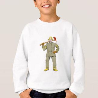 American Firefighter Fire Axe Drawing Sweatshirt