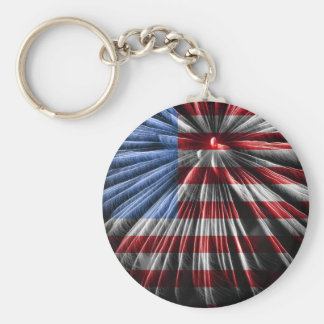 American Fireworks Flag Key Ring
