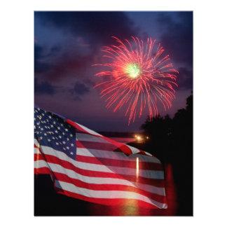 American Fireworks Invitation Cards