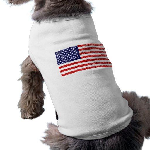 American Flag 1 Doggie Tee Shirt