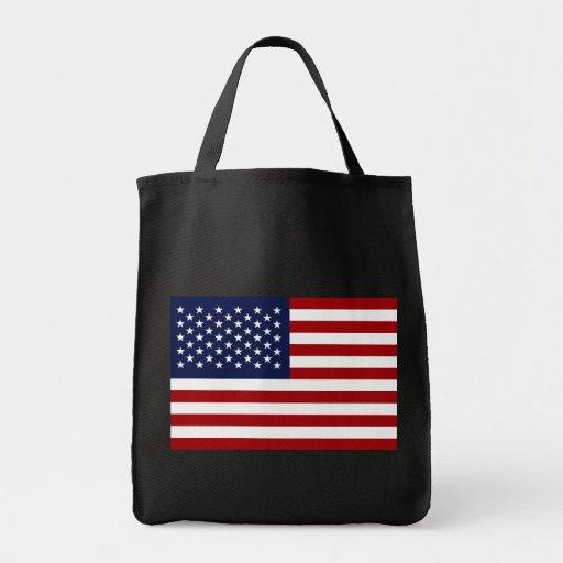 American Flag 2 Canvas Bags